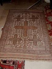 "Antique Turkish Hand Woven KILIM Wool Persian RUG Browns Tans Mauve 71""x 47"""