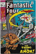 Fantastic Four #111 (Marvel 1971) VF+: Thing goes on a crime spree/Hulk