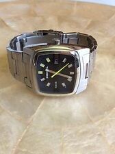 NEW DIESEL DZ-1556 BLACK DIAL 47mm  RECTANGLE SHAPED ST STEEL WATCH in BOX
