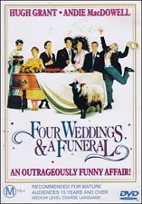 FOUR WEDDINGS & A FUNERAL (Andie MacDOWELL Hugh GRANT) Comedy Film DVD NEW SEALD