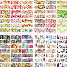 50 Sheets/Lot Latest 2015 Mixed Styles Water Nail Art Sticker Decals manucure
