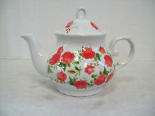 Beautiful Rose Garden Floral Porcelain Tea Pot Teapot