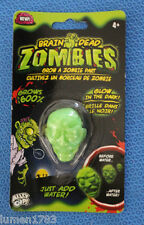 BRAIN DEAD ZOMBIES GLOW & GROW BIG HEAD ALLEY OOP CREEPY EERIE MONSTER TOY NEW