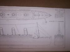 R M S OLYMPIC  ship boat model boat plans
