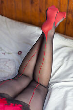 ***SALE*** Seams Galore Glossy Seamed Tights Fishnet Seamed Tights Choices...