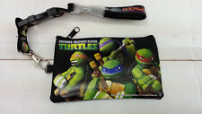 TEENAGE MUTANT NINJA TURTLES ZIPPED WALLET WITH  LANYARD IPONE MONEY BLACK COLOR