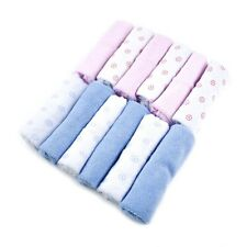Baby kids soft wash cloth bain alimentation serviette flanelle essuyer-pack de 12