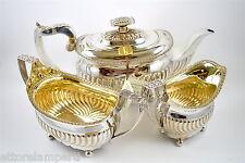 FANI ARGENTI antico set 3 pezzi teiera zuccheriera e lattiera LONDRA anno 1818