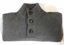 BRAND NEW- Barbour Essential Half Button Grey Lambswool Sweater-M- MSRP$179