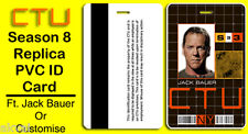 24 CTU Season 8 Replica PVC ID Card ft. Jack Bauer or Customise own Name / Photo