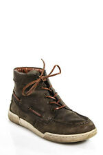 Marc By Marc Jacobs Brown Leather Lace Tie High Top Sneakers Size European 39