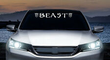 Beast with Claws windshield banner JDM vinyl decal, car, trucks