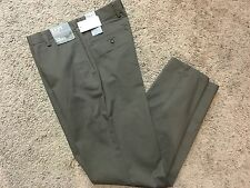 NWT DOCKERS D2 Straight Fit Easy Khaki Pants Flat Front Brown 34X32 MSRP $50