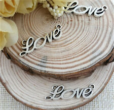 NEW Wholesale 8pcs Tibet silver LOVE Crafts Charms Pendants Making Jewelry DIY