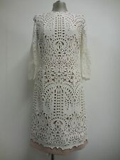 Beautiful dress by Justicia Ruano white over nude pink underdress wedding UK10