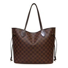 Louis Vuitton Neverfull MM Damier Ebene Tote Bag Authentic Leather LV N51105