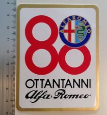 Alfa Romeo 80 Years Ottantanni Vintage Original Sticker 75 164 Spider 33