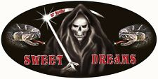"Grim Reaper Snakes Decal Bumper Sticker Personalize Gifts 6""x12"" Tattooed Skull"