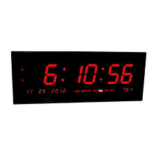 Big Time Clocks Large Calendar Multi-Alarm with Seconds Display for Desk or Wall