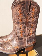 Ariat Dandy Cowboy Boots Sassy Brown 10007964  Snip Toe w/ Inlay sz 10 B NIB