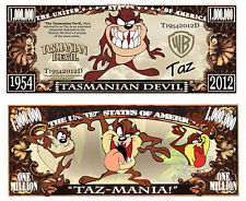 Le DIABLE DE TASMANIE BILLET MILLION DOLLAR ! Série Cartoon TAZ Tasmanian Devil