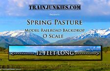 """TrainJunkies O Scale """"Spring Pasture""""  Backdrop  24x144"""" C-10 Mint-Brand New"""