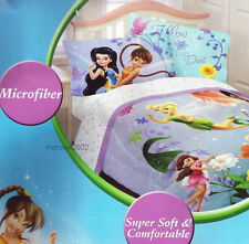 Disney TINKERBELL Fairies 4pc FULL BED SHEET SET Fantasy Floral Girls Double NEW