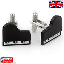 Cool Men's Women's Dress Baby Grand Piano Cufflinks Novelty Design Cuff-links