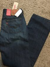 NWT LEVIS JEANS 514 Mens Blue Straight Leg 32X32 MSRP $60