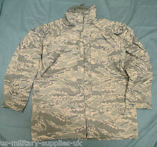 NEW US/USAF ABU/TIGER STRIPE CAMOUFLAGE APECS GORETEX JACKET/PARKA. LARGE-LONG.