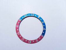 RED & BLUE PEPSI BEZEL INSERT 1675, 16750 ROLEX GMT-MASTER FADED AGED VINTAGE