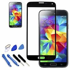 Black Replacement Screen Glass Lens Kit For Samsung Galaxy S5 SV i9600 SM-G900