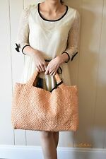 Womens FALOR DESIGNER HAND woven leather Hobo tote Handbags With Pouch