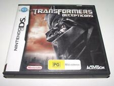Transformers Decepticons Nintendo DS 2DS 3DS Game Preloved *Complete*