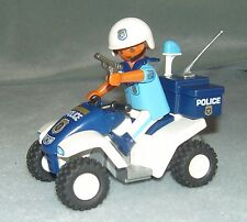 Playmobil Police Rescue Theme 3655 Beach Patrol Police Inc Quad Bike Weapons VGC