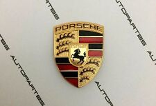 Porsche Original Steering Wheel Lenkrad AirBag Badge Emblem Gold Crest 3x4cm