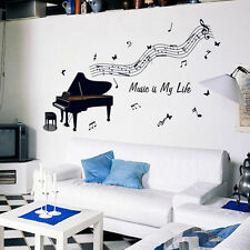 Piano Music Removable Vinyl Decals Wall Stickers Mural DIY Art Room Home Decor