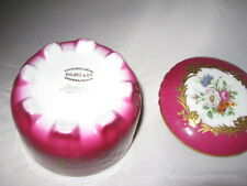 Lemoges France , Floral Decorated Large Trinket Box Vintage Porcelain