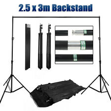 Photo Studio Heavy Duty Backdrop Support Stand Background Tripod w/ Carry Bag