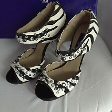 Jimmy Choo for H&M High Heels Pumps EUR Gr. 39 size US 8 UK 6 Zebra Design Neu