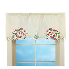 Christmas Snowman Couple Window Valance, by Collections Etc