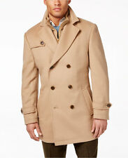 $875 RALPH LAUREN MENS BROWN WOOL FIELD Overcoat WINTER COAT Peacoat JACKET 36R