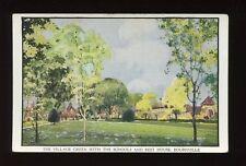 Warwks Warwickshire BOURNVILLE Village Green Schools c1920/30s? PPC