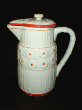 Japan Bamboo Daisy Orange Cream Batter Pitcher w Lid