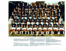 1985 CHICAGO BEARS SUPER BOWL CHAMPS 8X10 TEAM PHOTO PAYTON ILLINOIS  FOOTBALL