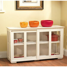 Glass Door Stackable Cabinet Buffet Dining Room Furniture  Kitchen Table