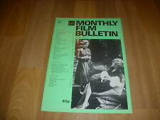 MONTHLY FILM BULLETIN  Rosel Zech & Barbara Sukowa in LOLA  cover Apr 82