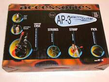 """AP-3 Electric Guitar Gig Bag, Strings, & Strap Accessory Kit for 3/4 Size or 36"""""""