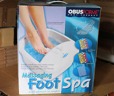 ObusForme Water Foot Massage Spa Heat Therapy Bubbles, Heat & Vibration Massager