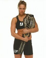 Ronda Rousey 8x10 Photo Picture w/ UFC Belt 157 168 170 175 184 190 StrikeForce